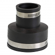 "EVERFLOW,4831 ,3 X 1-1/2"" Black Flexible Pvc Rubber Coupling with Stainless Steel Clamps, M78455"
