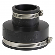 """EVERFLOW, 4835 , 4 x 2"""" Black Flexible Pvc Rubber Coupling with Stainless Steel Clamps, M78457"""