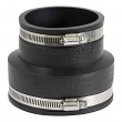 """EVERFLOW, 4836, 4 x 3"""" Black Flexible Pvc Rubber Coupling with Stainless Steel Clamps, M78458"""