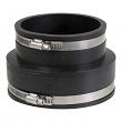 "EVERFLOW, 4837 , 5 x 4"" Black Flexible Pvc Rubber Coupling with Stainless Steel Clamps, M78459"