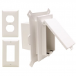 Arlington, DBVS1W , White Cover 1-Gang Vertical Low Profile-In Box Recessed Electrical Box for New Vinyl Siding Construction, M78479