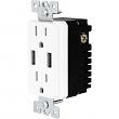 Enerlites, 61501-TR2USB-W, USB Dual Charger Receptacle-White, M78495