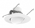 RAB, DLED6AR14Y , Retrofit Downlight 6 Round Adjustable 14W LED 3000K White, M78722