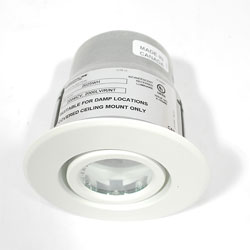 "Lightolier, 3 3/4"" MR16 Mini Swivel Round Reflector Trim, 2025WH"