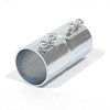 "EMT Couplings, 1/2"" Size, Set Screw Type, Concrete tight when Taped, Steel"