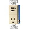 Cooper Wiring Devices, TR7740A, Decora Receptacle/USB Combination