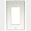 Mulberry, 97834, 1 Gang Decora/GFI, Jumbo, Stainless Steel, Wall Plate