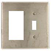 Mulberry, 83432, 2 Gang 1 Toggle Switch 1 Decora/GFI, Chrome, Wall Plate