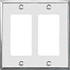 Mulberry, 97402, 2 Gang 2 Decora, Stainless Steel, Wall Plate