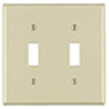 Mulberry, 34872, 2 Gang 2 Toggle Switch, Jumbo, Ivory, Wall Plate