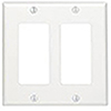 Mulberry, 86402, 2 Gang 2 Decora/GFI, Metal, White, Wall Plate