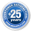 Over 25 years of Customer Satisfaction.
